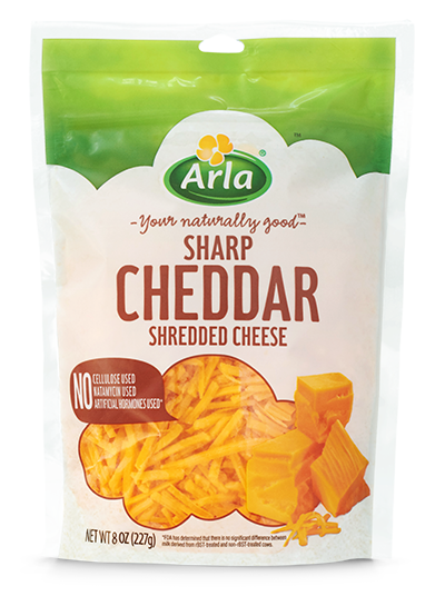 Arla Shredded Cheese Shredded Sharp Cheddar | Arla US