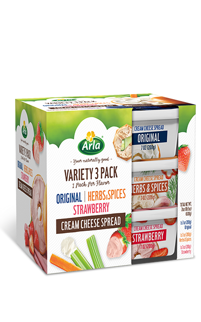 Arla Cream Cheese Variety 3 Pack Cream Cheese