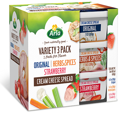 Variety 3 Pack Cream Cheese